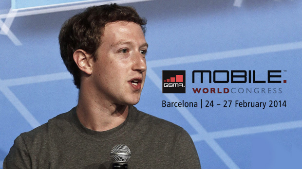 Mark Zuckerberg auf dem Mobile World Congress Foto: (dpa)