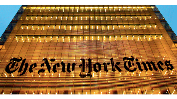 Das Hauptquartier der New York Times in Manhattan