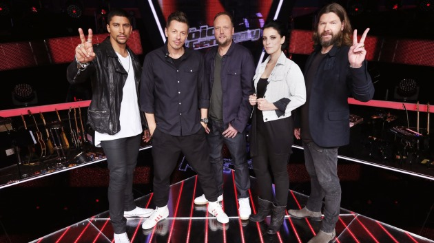 "Die 2015er-Coaches von ""The Voice of Germany"": Andreas Bourani, Michi Beck, Smudo, Stefanie Kloß und Rea Garvey (v.l.n.r.)"