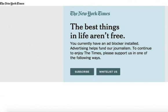 Screenshot New York Times