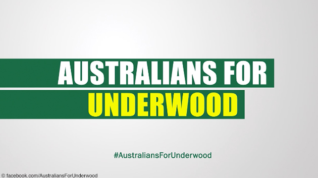 """Australians for Underwood"" – so wirbt Netflix für die fünfte Staffel von ""House of Cards"" in Australien"