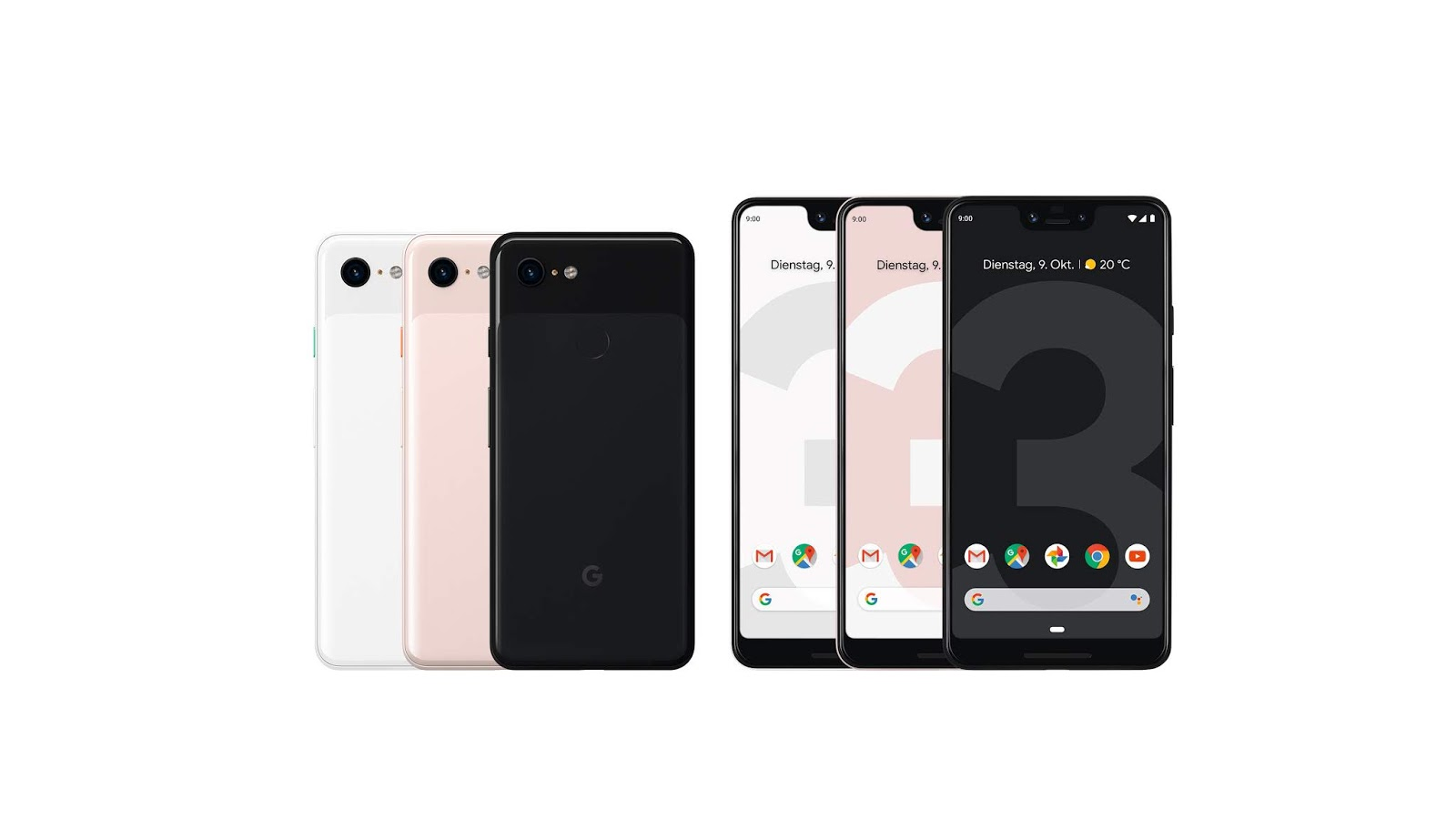 pixel 3 google launcht sein neues flaggschiff smartphone. Black Bedroom Furniture Sets. Home Design Ideas