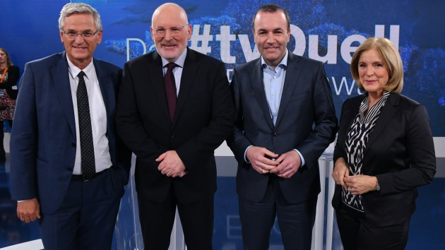 Peter Frey, Frans Timmermans, Manfred Weber, Ingrid Thurnher