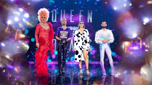 "Die ""Queen of Drags""-Jury: Olivia Jones, Bill Kaulitz, Heidi Klum, Conchita Wurst (v.l.n.r.)"