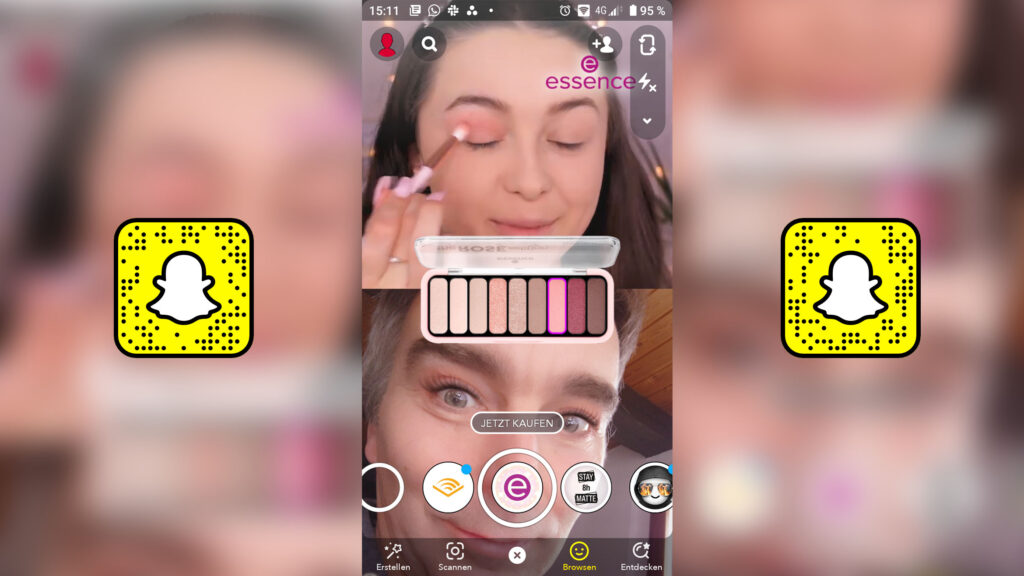 Essence Augmented Reality Kampagne Snapchat
